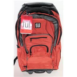 Ful Red Carry-On Backpack w/ Wheels