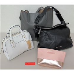 4 Handbags - Michael Kors, Candie Couture & Gray Pebble Leather Bag
