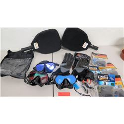 Qty 2 Pickleball Central Paddles, Goggles, Gloves & Field Cleaning Kits