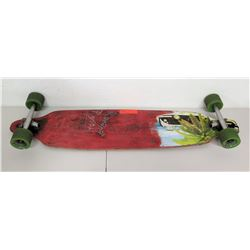 "Yoacher Longboards Skateboard, ""Raeana Raysiah"" Palm Design"