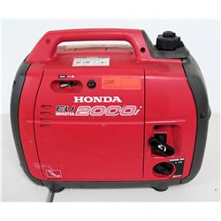 Honda EU 2000i Portable Generator, DC 12V, Inverter A/C Out 120V