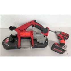 "Milwaukee Portable Band Saw & 1.4"" Hex Impact Driver"