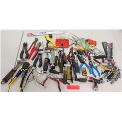 Misc Hand Tools - Wire Cutters, Rivet Gun, Sockets, Vice Grips, etc.