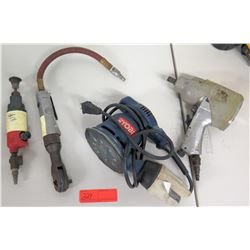 Ryobi Sander, 2 Air Impact Wrenches, Air Grinder, etc.