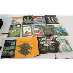 Qty 13 Marijuana Cannabis Reference Books
