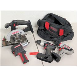 2 Craftsman 19V Circular Saw & 3 Craftsman Drivers/Drills