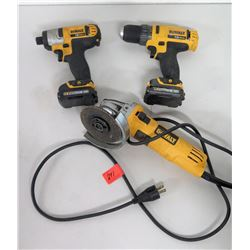 DeWalt Electric Angle Grinder, Portable Impact Driver & Drill