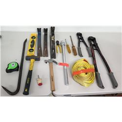 Misc. Tools - Bolt Cutters, Screwdrivers, Crowbar, Hammer, etc.