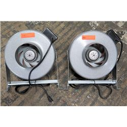 Qty 2 Vortex Industrial Powerfans Model VTX600