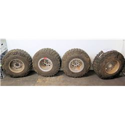 Qty 4 Grapplers 33x13.50R 15 LT Mud Truck Tires & Rims