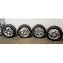 Qty: 4 Valera HT 275/45R 20 Tires w/ Chrome Rims