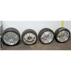 Qty 4 Pzero Tires on Chrome Rims