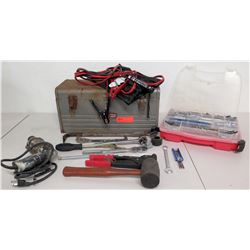 Electric Drill, Jumper Cables, Rubber Hammer, Craftsman Metal Tool, etc