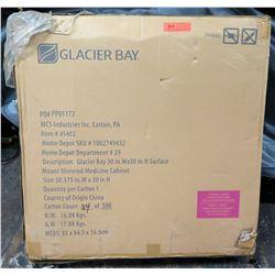 """Glacier Bay 30"""" Beveled Medicine Cabinet in Box, Tri View Frameless"""