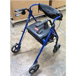Elite Ed. Blue Walker w/ Seat, Backrest & Saddle Bag