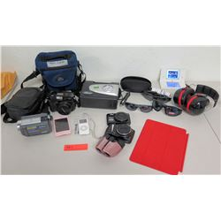 Nintendo Game Boy, 2 Cameras, Sony Video Camera, Sunglasses, Headphones, etc.