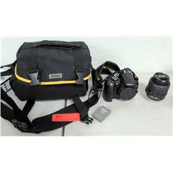 Nikon DX5000 Camera w/ Nikon AF-S Nikor 18-55mm 1:3.5-5.6G Lens & Case