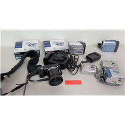 Qty 7 Cameras & Video Cameras - Samsung, Panasonic, Sony, Nikon