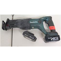 Makita 18V Sawzall Reciprocating Saw w/ Extra Battery