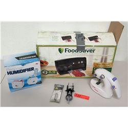 Humidifier, Foodsaver Vacuum Seal System, Mini Sewing Machine, etc.