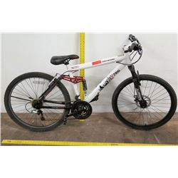Genesis V2100 21-Speed Mountain Bike, Shimano Full Suspension, White