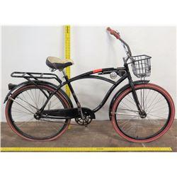 Huffy 26  M Nel Lusso Road Bike w/ Basket & Rack