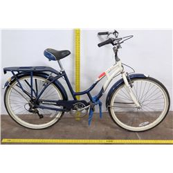 Schwinn Point Beach  Ladies Cruiser Bike w/ Rack, Blue/White
