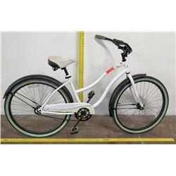 """Huffy 26"""" Ladies Road Bike w/ Coaster Brakes, White"""