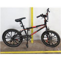 Mongoose Rebel Freestyle Big Wheel Trick Bike, Black/Orange