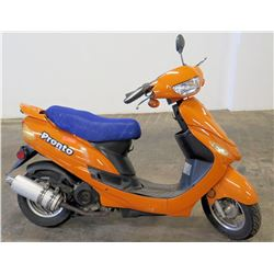Pronto Orange Moped, Taizhou Zhongneng Motorcycle Co., 4987 Miles