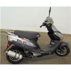 Soleil YN50QT-8 Gray Moped Scooter, 3759 Miles
