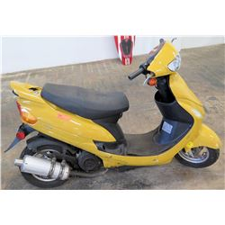 2014 Sun 50 Yellow Moped, Taizhou Zhongneng Motorcycle Co., 2707 Miles