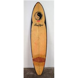Town & Country Ben Aipa Longboard Surfboard, 3-Fin, Tan/Black