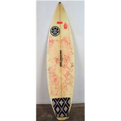 Eric Arakawa 3-Fin Surfboard, White/Black