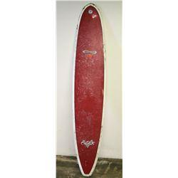 Infinity Cluster Longboard Surfboard, Single-Fin, Red White