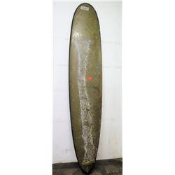 Epoch Longboard Surboard, Single Fin, Brown Green