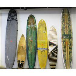 Qty 5 Surfboards, Various Sizes, 3 Longboards - NSP, Bushman, Ratlo Fin