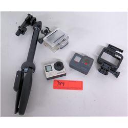 Go Pro & Hero 4 Waterproof Camera w/ Accessories