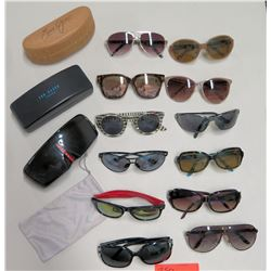 Qty 12 Sunglasses, 4 Cases - Carrera, Maui Jim, Vans, Ironman, etc
