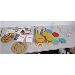 Assorted Kitchenware - Canisters, Plates, Serving Dishes & 2 La Bibles