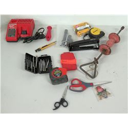 Milwaukee Charger & Misc Hand Tools - Easy Outs, Dent Puller, etc