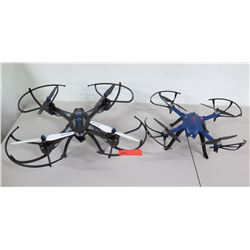 Qty 2 Drones - Sky Riders & Bugs 4 Propeller w/ Cameras