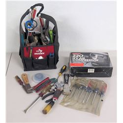 Trouble-Free 220 PSI Air Compressor, Misc Hand Tools, Husky Tool Bag