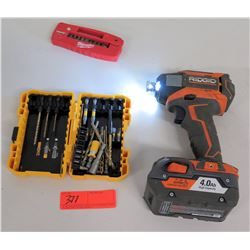 Ridged R8603 3-Speed Impact Driver w/ Bits, Misc. Hand Tools