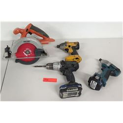 Ridgid Circular Saw, Skil Saw, Makita Drill & Kobalt 18V Drill