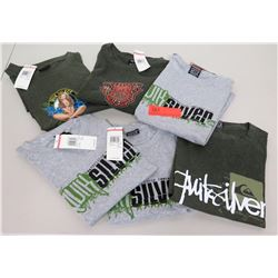 Qty 6 New Quiksilver T-Shirts - All Size Large