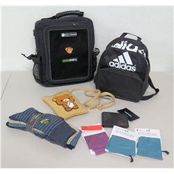 GeekThink Backpack, Adidas Backpack, Diesel Wallet, Socks, Microfiber Eyeglass Bags