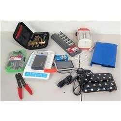 X-Atomi Power Block, Garmin GPS, 3 Socket Sets, Camera, Wire Stripper, etc