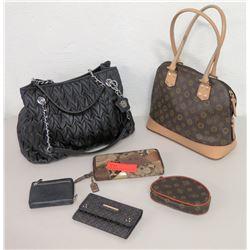 2 Handbags & 4 Wallets - Rampage, Jessica Simpson, etc