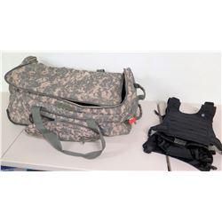 Camo Canvas Suitcase & Black Mission Critical Child Vest